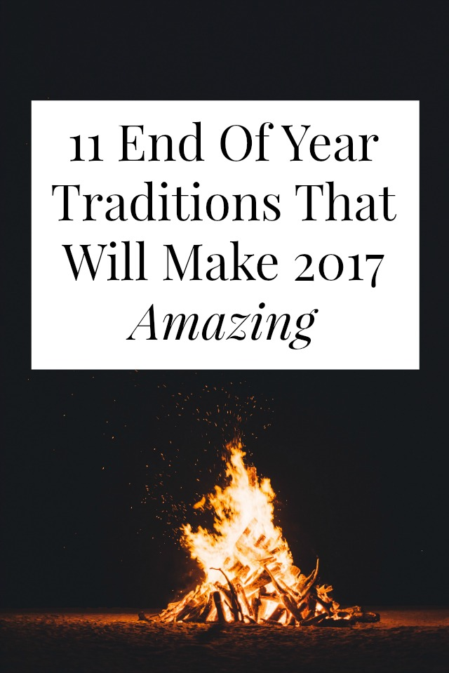 Looks for an end of year tradition that ISN'T writing a resolution or singing