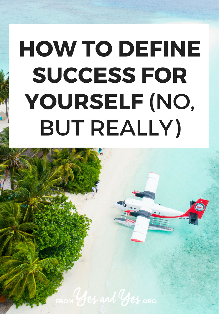 How do you define success for yourself? How do you distance yourself from family and social expectations of what you 'should' be doing? Click through for 5 questions that will help you define success on your own terms.
