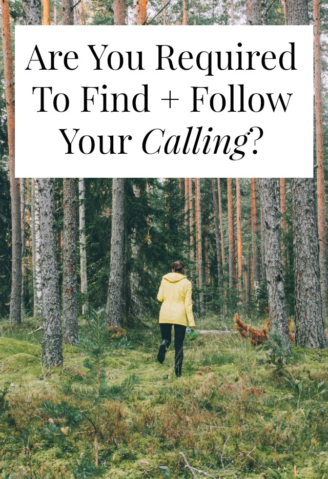 Do you have to find your calling? Do you 'have to' follow your bliss? I don't think so. Click through to find out why.