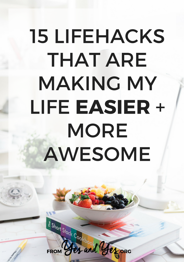 Are you looking for lifehacks? Do you want to be more productive? Click through for 14 little tweaks and products that are making my life easier and more awesome.