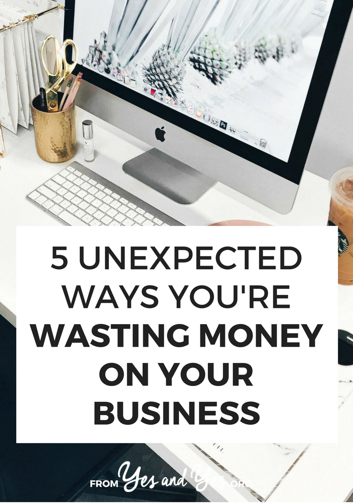 Are you wasting money on your business? Or trying to make a budget for your business? You might be spending money you don't need to spend. Click through to tighten up your business budget!