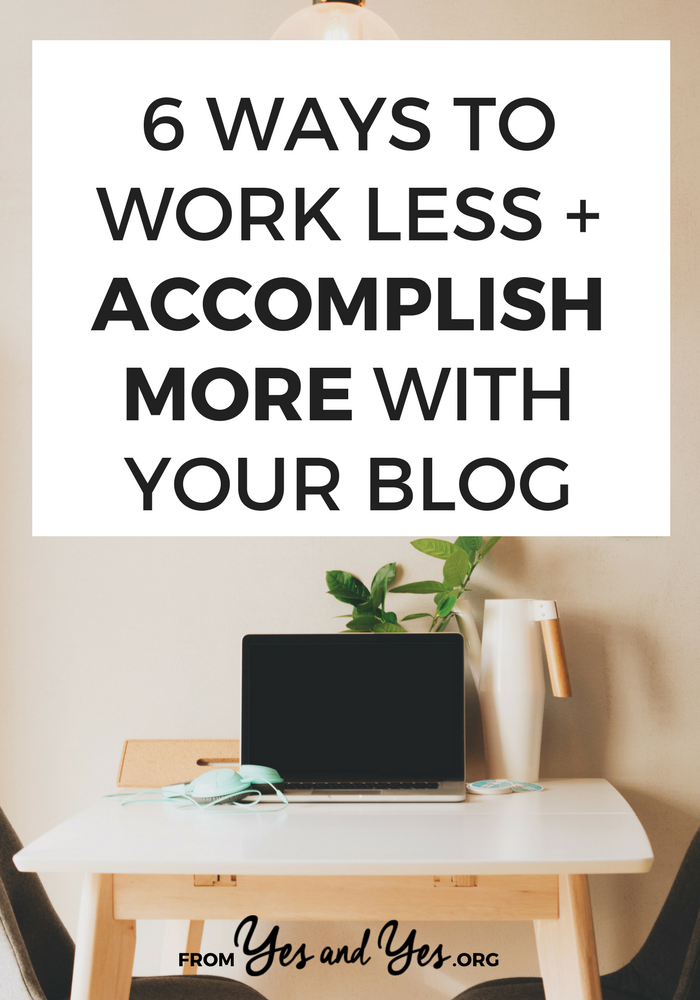 These blogging productivity tips will give you more time and help you work less and accomplish more. Promise! Click through to find out how!