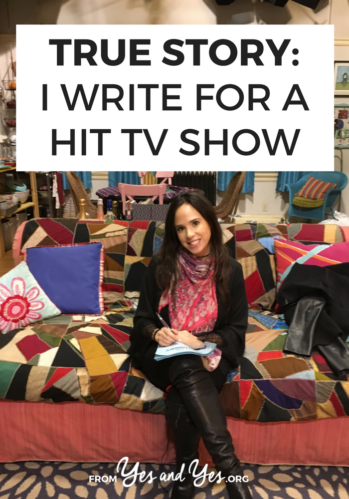 What's it like to write for tv? How do you become a tv writer? Click through for one tv writer's story + advice!