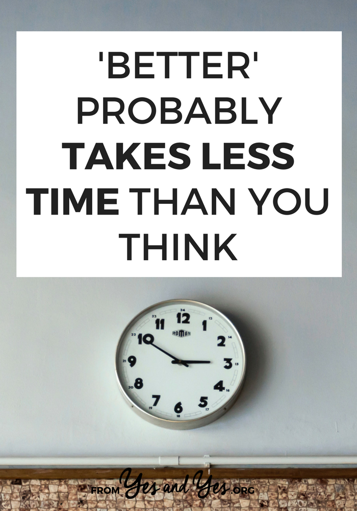 Want to stop rushing around everywhere? Want more time to 'do better'? Welp, better might actually take less time than you think. Click through to find out how to rescue wasted time and find more time to do life better!