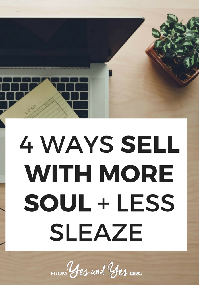 Looking for sales tips and marketing advice? Want to sell more without being gross? Click through for 4 tips that will help you do just that!