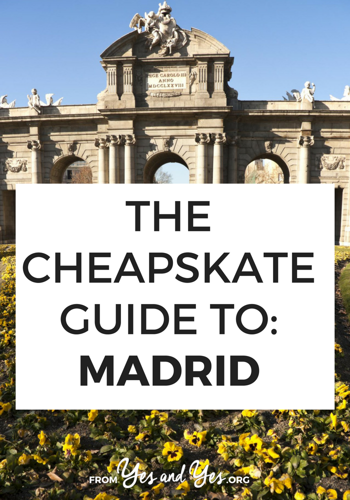 Is it possible to do Madrid on the cheap? Even though the American dollar is 84 cents to the Euro? Yes! Click through for local travel tips on cheap lodging, cheap food, and cheap things to do in Madrid!