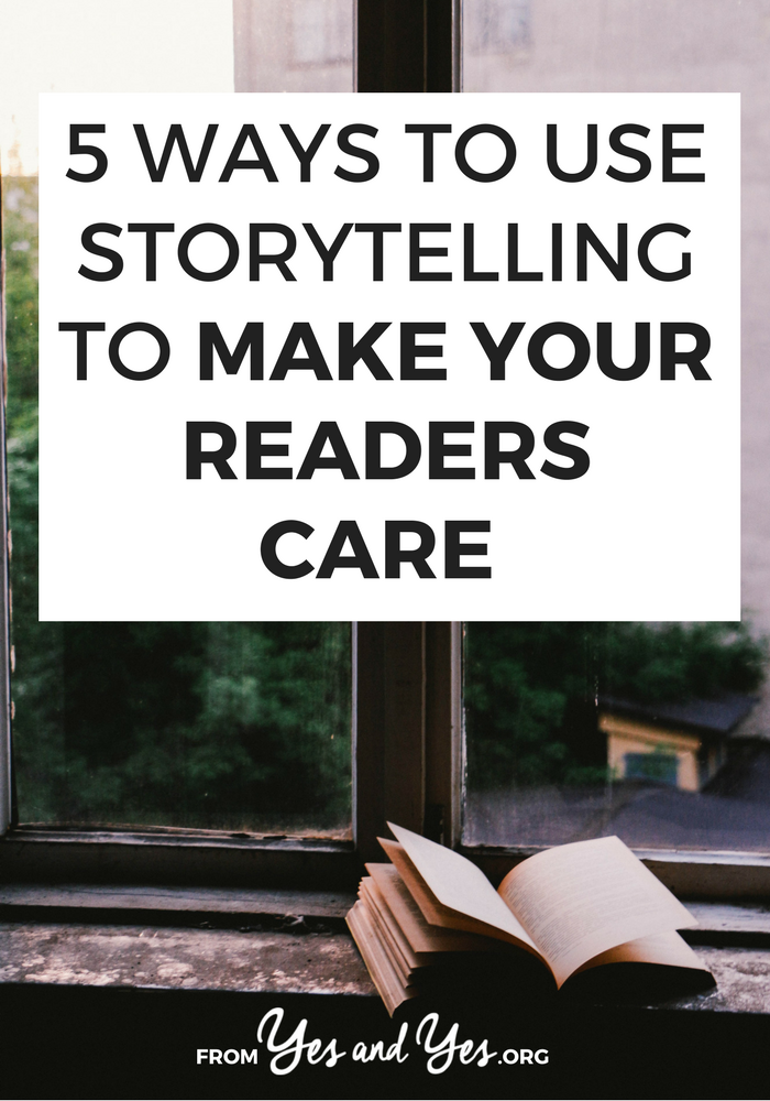 Using storytelling techniques in your blog posts and on social media increases engagement, click through, and makes your readers actually CARE about what you're doing. Click through to learn 5 ways to use storytelling in your blog!