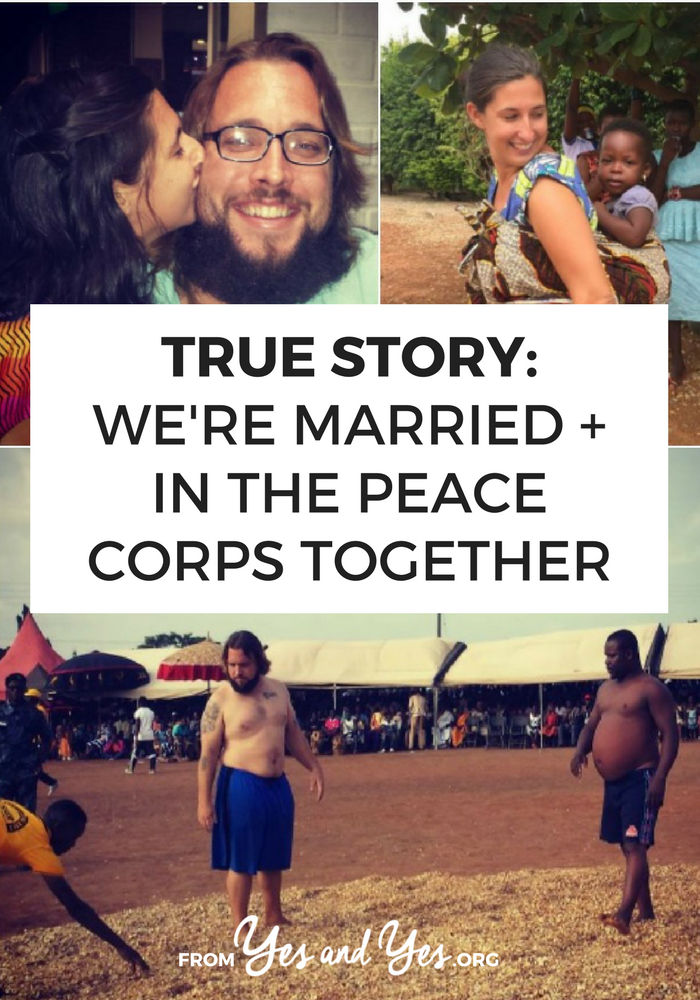 What's it like to be married in the Peace Corps? Want to travel with your partner or live abroad? Click through for one couple story!