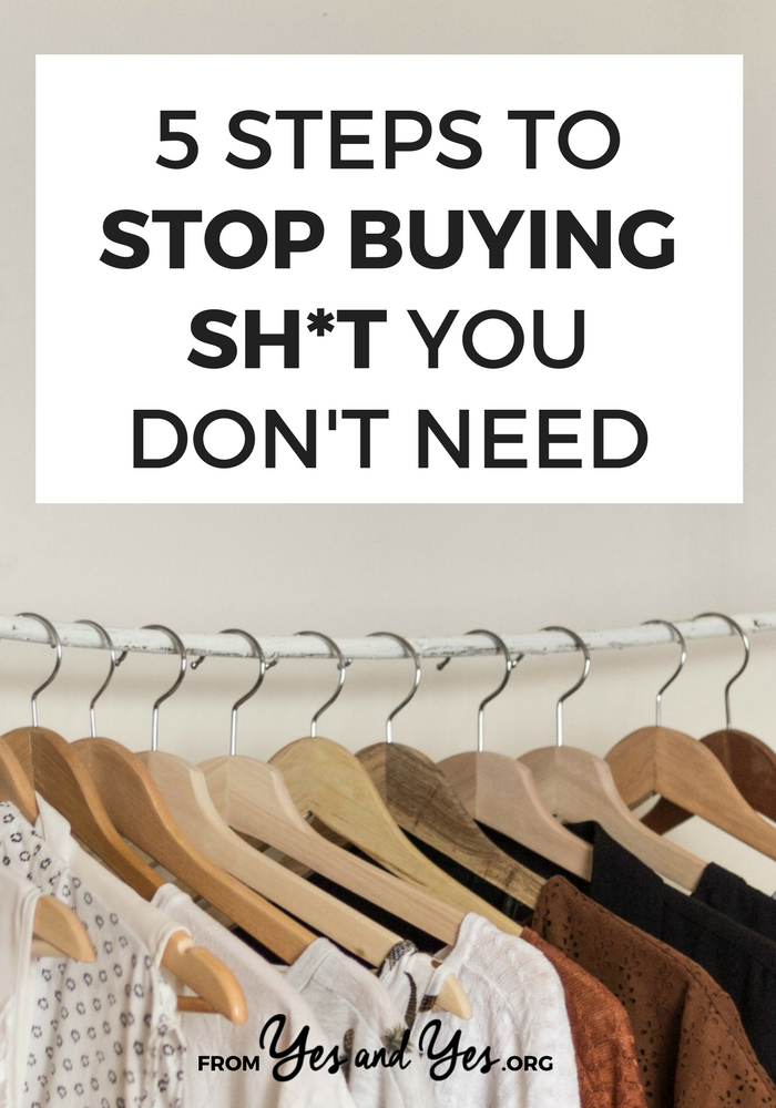 Looking for money-saving tips? Trying to stick to a budget? All the money advice in the world won't help if you're buying tons of stuff you don't need. Click through to find out how to stop!