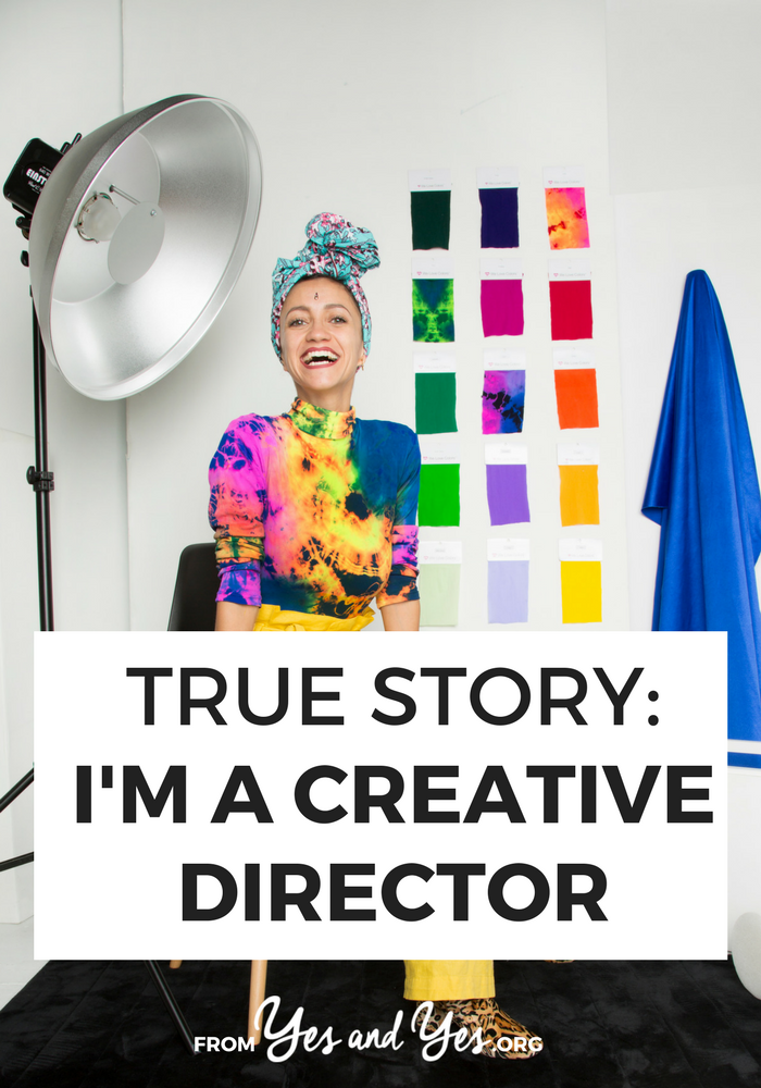Want to become a creative director? Click through for one woman's story of how she came to creatively direct a company who sent her a pair of free tights when she was a fashion blogger!