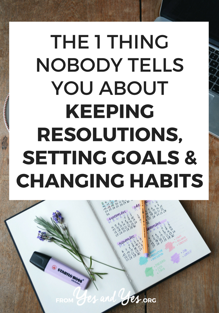 Want to change habits, keep your resolutions, or achieve your goals? It'll be A LOT easier if you know this ONE thing (and I'm probably the only person who's going to tell you). Click through and find out how to make habit change stick!
