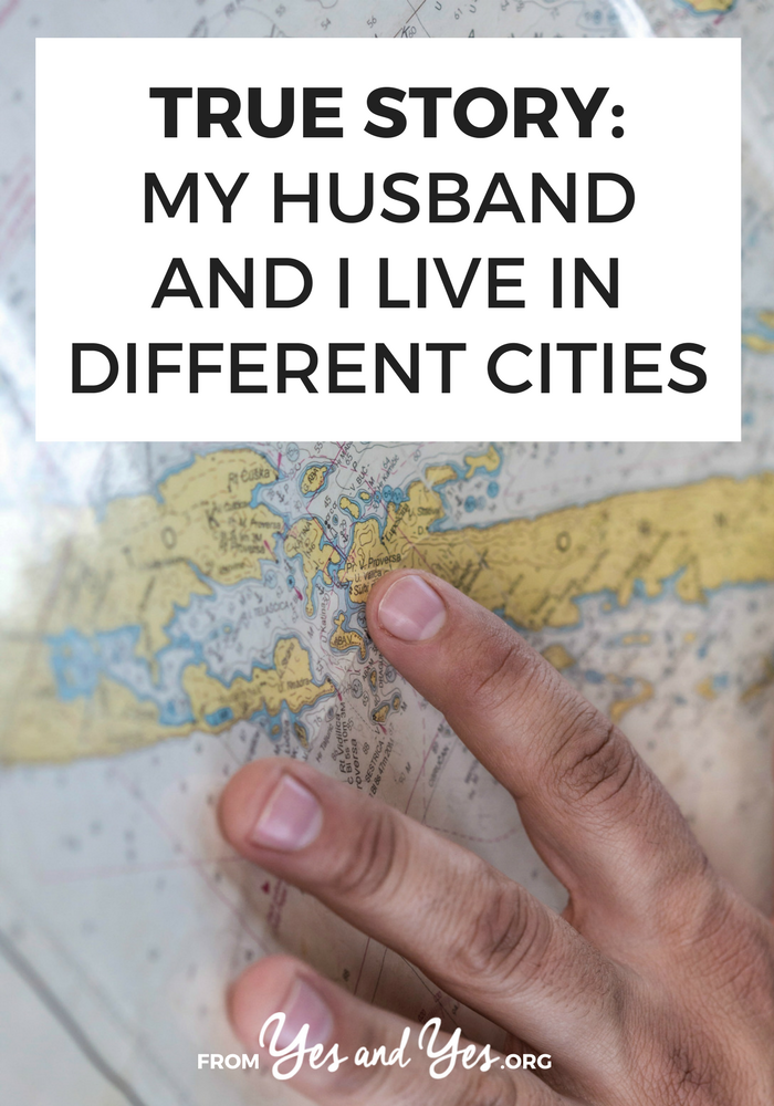 Could you ever live in a different city than your spouse? If you're looking for long-distance relationship tips, click through for one woman's story!