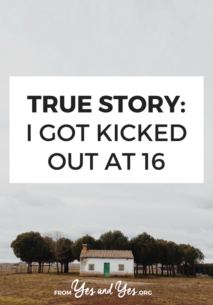What would like be like if you were kicked out of the house at 16? Where would you live? How would you fend for yourself? Click through for one woman's story.