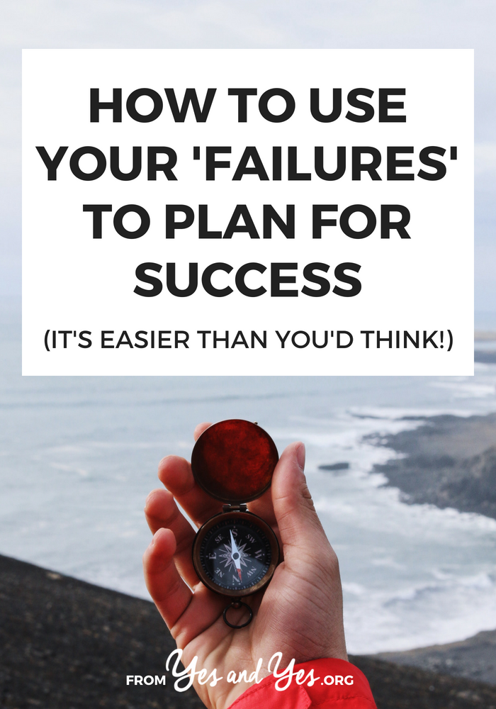 Use your failures to plan for success? Yes. If you're looking for productivity tips or an unusual life hack, click through for great tips!