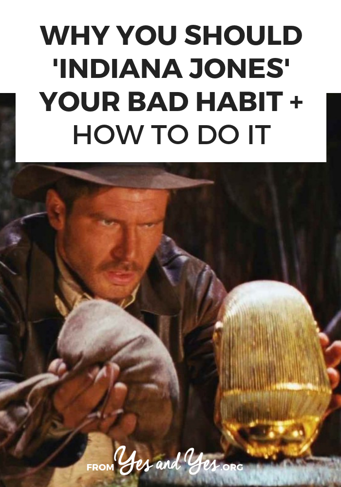 Want to break a bad habit? Replace your bad habit rather than trying to go cold turkey or be too virtuous! Click through for ideas about less-bad habits you can use to replace your bad ones!
